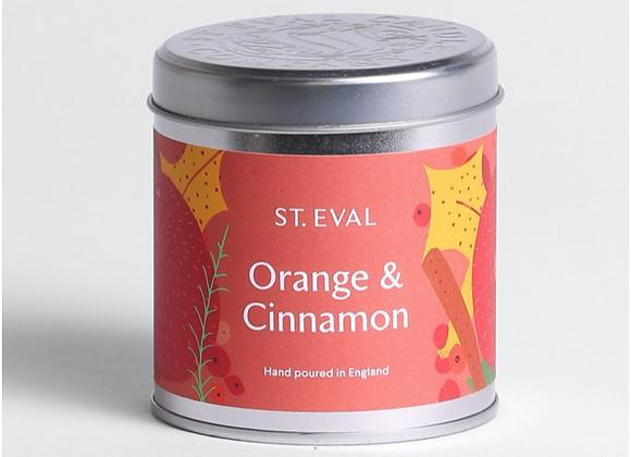 Orange & Cinnamon Tin Candle