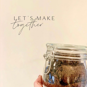 Let's Make Together - Beauty Products you can make at home | easy coco body scrub