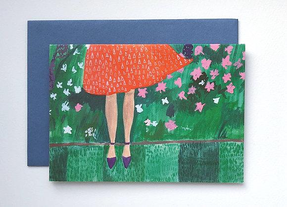 Garden Girl card