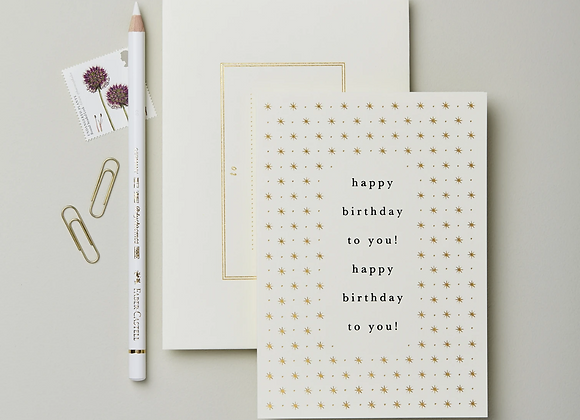 A Happy Birthday to you card