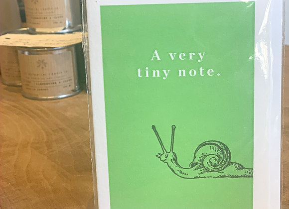 Snail 'a very tiny note' Mini Note Card (blank inside)