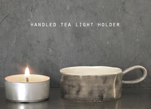 Handled Washed Tea light Holder