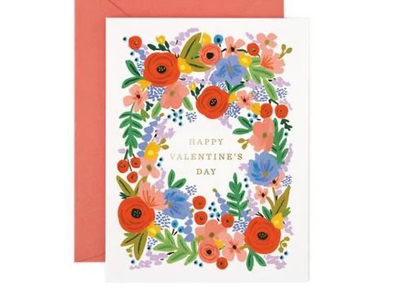 Rifle Paper Bouquet Valentine's Day Card