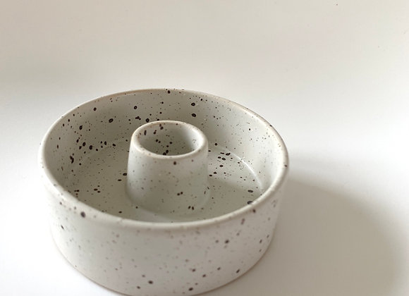 Speckled dinner candle holder