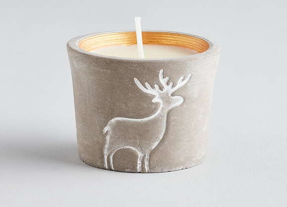 Christmas Reindeer Pot Orange & Cinnamon