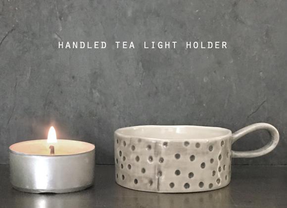 Handled Dot Tea light Holder