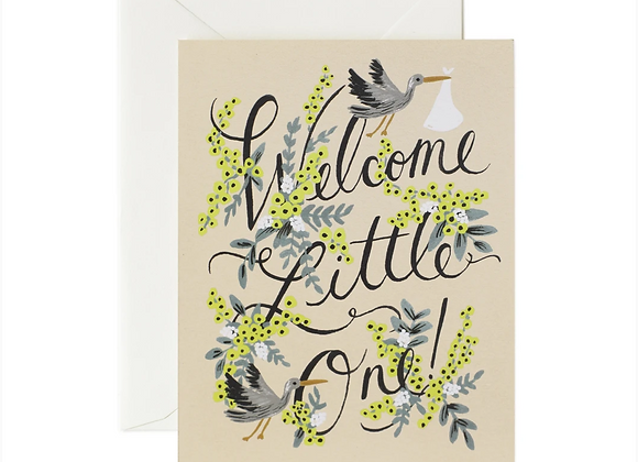 Rifle Paper Welcome little one ~ New Baby Card