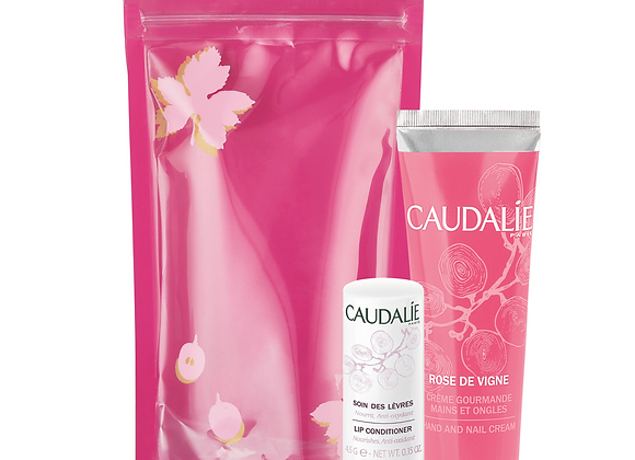 Caudalie Lip Balm + Hand Cream Duo Rose