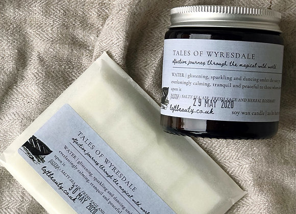 NEW | tales of Wyresdale | WATER | Soy Candle + Vegan Wax Melt Set