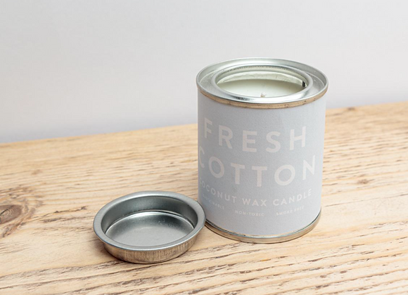 Fresh Cotton Conscious Tin Candle