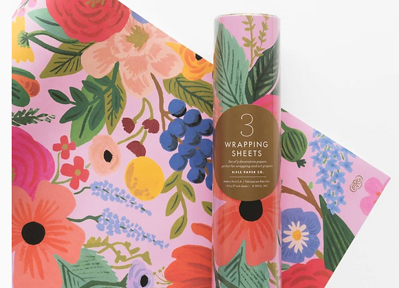 Rifle Paper Wrapping Paper Roll (3 sheets) - Garden Party