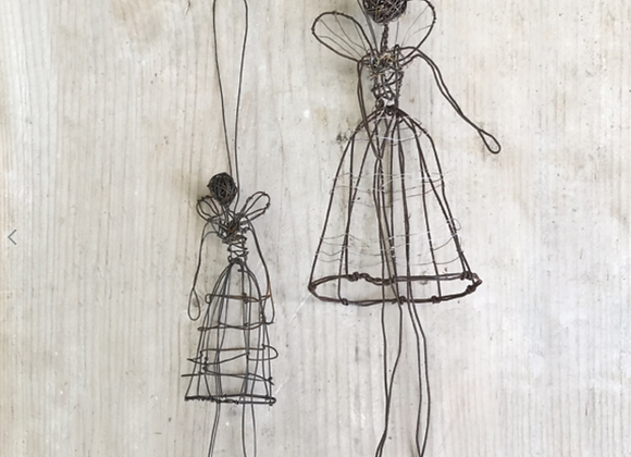 Small Woven Wire Angel or Fairy