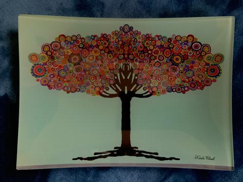 Magic tree glass plate