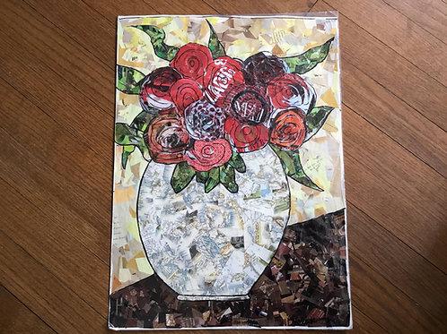 """Roses in """"mappy"""" vase"""