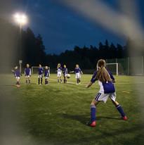 Equipe de futebol das meninas