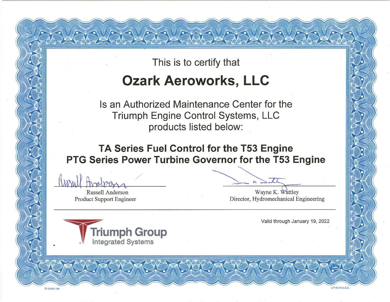 Triumph AMC Certificaiton