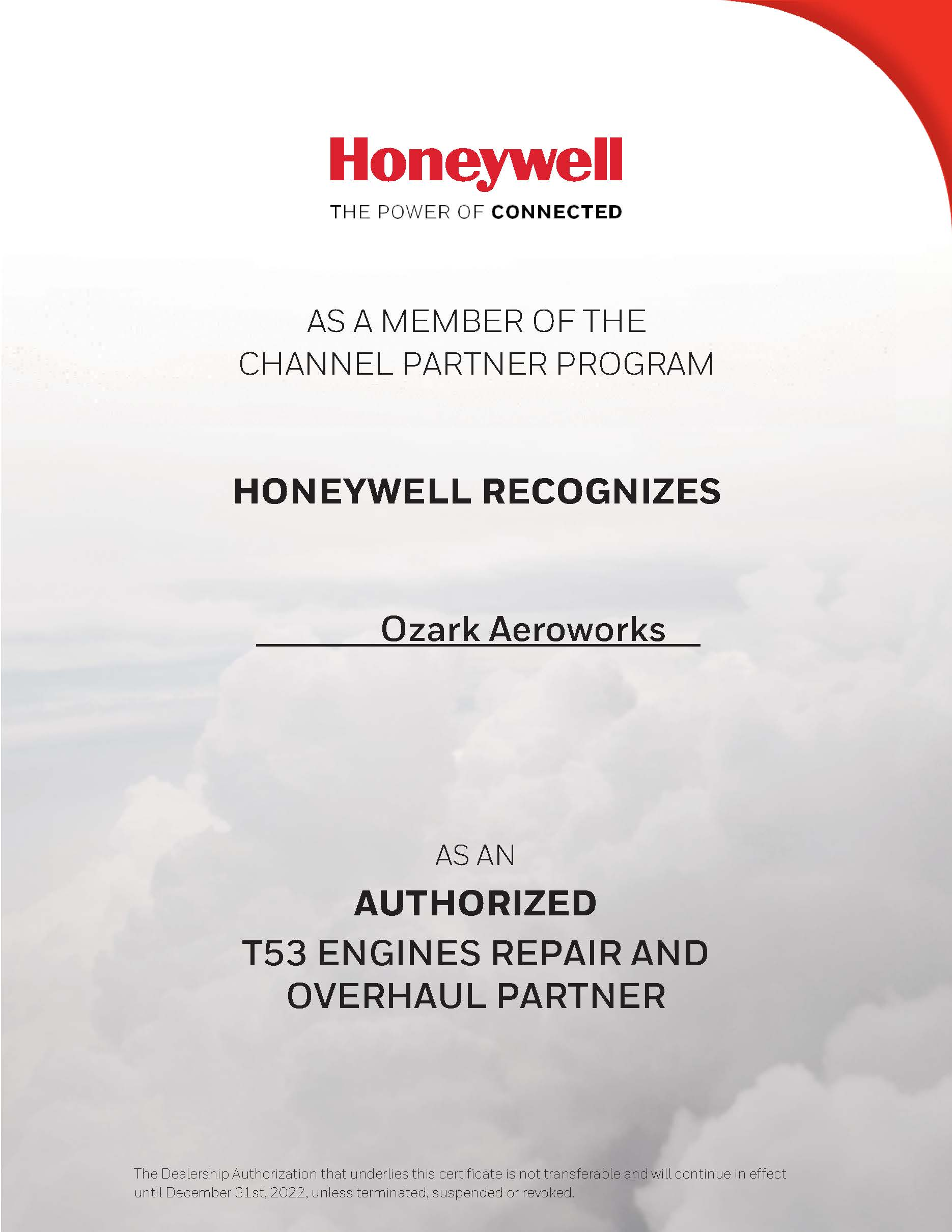 Honeywell Cert