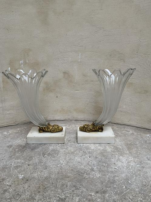A pair of Rhyton vases .