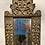 Thumbnail: Two wooden sculpted mirrors with front stands .