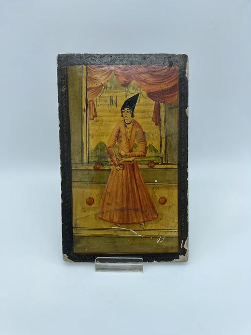 A Kadjar polychrome mirror from the XIX century.