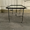 Thumbnail: A French coffee or tea table with a glass top and iron , 1950/1960