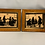 Thumbnail: Two paintings behind glass in a wooden frame.