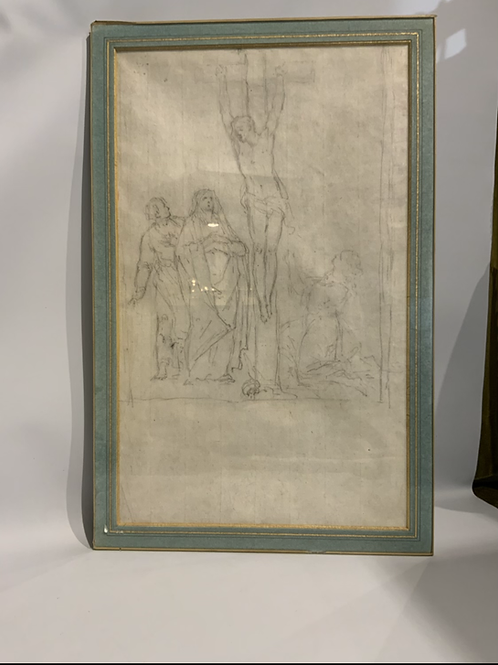 A good double sided  drawing from the XVII century.