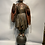 Thumbnail: A polychrome wooden carved statue of a Chinese men.