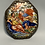 Thumbnail: A small enameled and silver framed Spanish mirror in the form of a pendant.