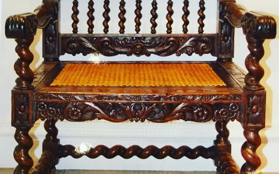 Rare Dutch colonial armchair
