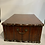 Thumbnail: A large wooden Dutch colonial traveling box .