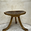 Thumbnail: A thee legged wood gilded Egyptian style Thebes stool with copper lacquered seat