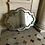 Thumbnail: A large wooden decorative mirror with a beveled edged mirror border.