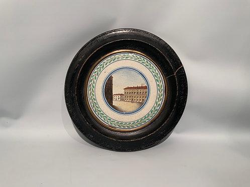An Italian ceramic polychrome plaque