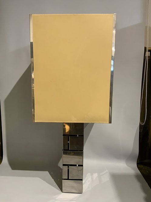 An aluminum lamp from the 1960/70 with its original shade .