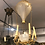 Thumbnail: A very rare 19th century air balloon lamp in glass and bronze , Charles X period