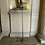 Thumbnail: A bronze gilded  floor lamp around 1950 .