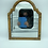 Thumbnail: A wooden floral painted mirror .