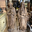 Thumbnail: Two large statues in pine wood representing Melchisedech and a saint woman .