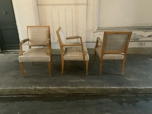 Three armchairs from the 1940 .