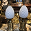 Thumbnail: A pair of brass gilded and opaline lamps in the shape of a pine apple