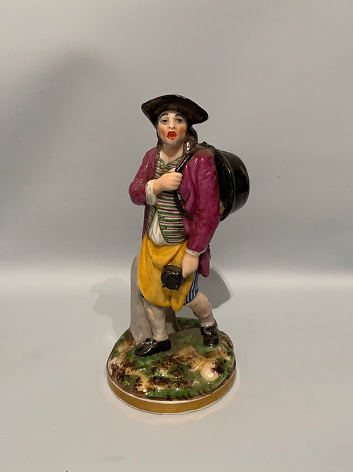 A French polychrome porcelain statue from the XVIII century.