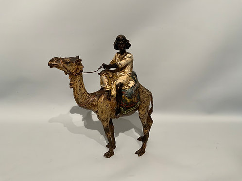 A nice and large polychrome Vienna bronze sculpture , H 21,5 cm ,around 1900