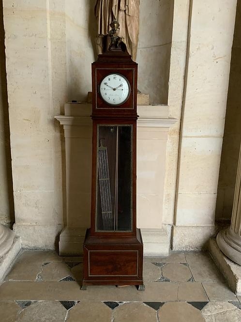 A mahogany standing Regulator clock .