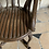 Thumbnail: A wooden sculpted and painted chair probably for a musician .