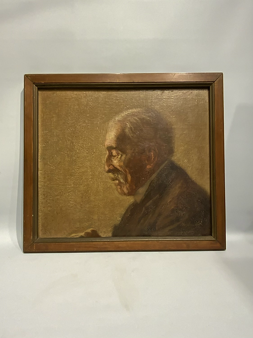 A painting of an elderly man .