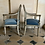 Thumbnail: A paire of Directoire chairs in painted wood .