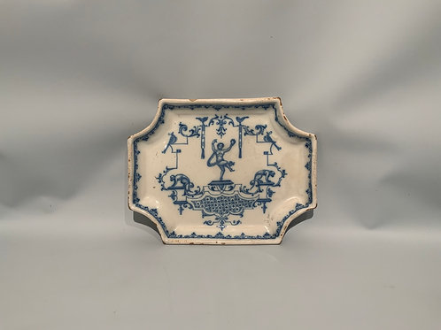A small Italian ceramic plate from the XVIII century.