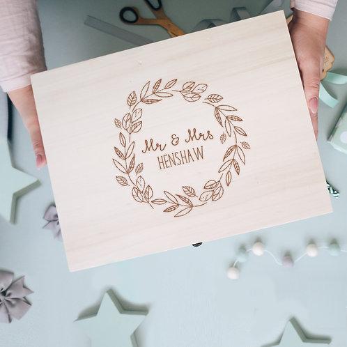 Keepsake Memory Box with Floral Design