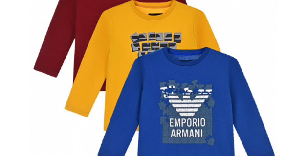 Emporio Armani   PACK 3 MAGLIE C/STAMPA GAMES 6H4D014J09Z10917